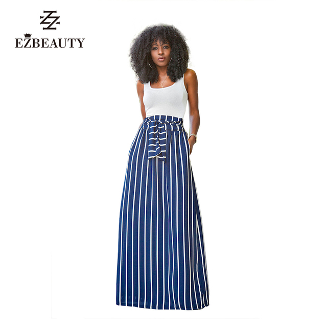 Two Piece Set Women Crop Top And Skirts Suits Fashion Stripe Femme Club Beach Long Skirts Autumn Summer Casual Office Set