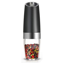 Electric Pepper Grinder or Salt Mill with Adjustable Coarseness Ceramic Mechanism,Automatic Operation,Battery Powered