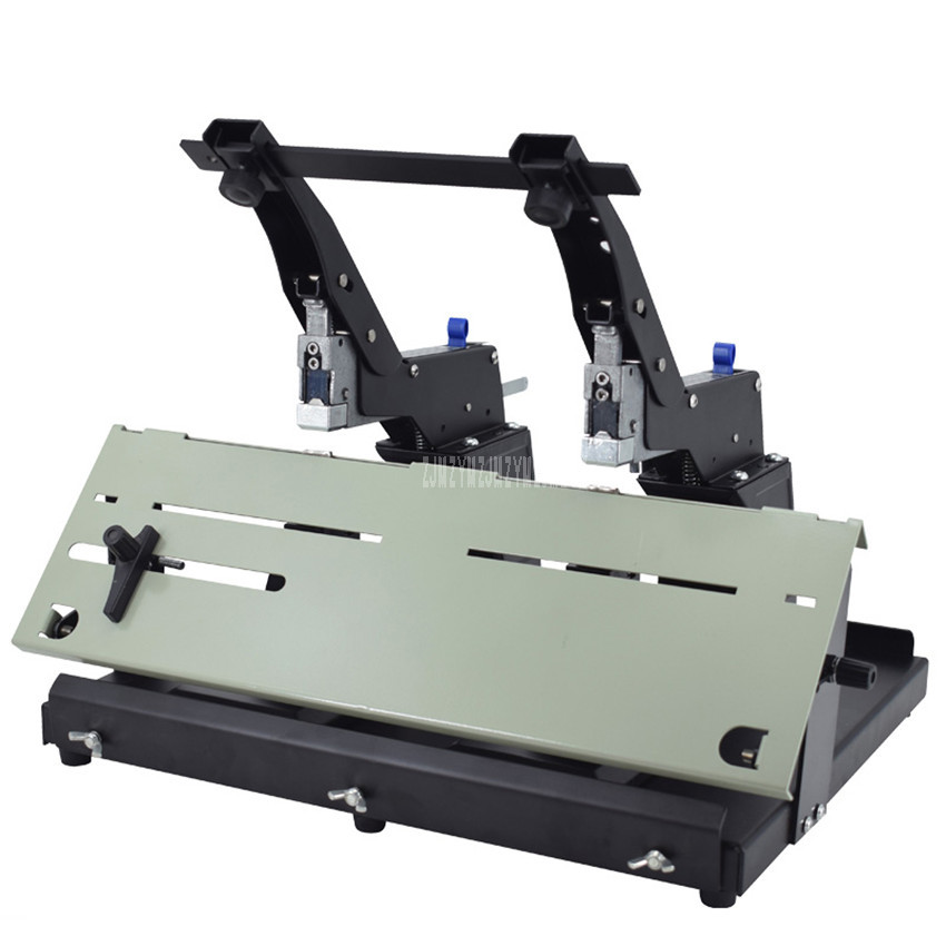SH-03G Binding Depth 10cm Desktop Manual Stitcher Double Stapler Machine Staples Binder Flat/Saddle Book Paper Binding Machine