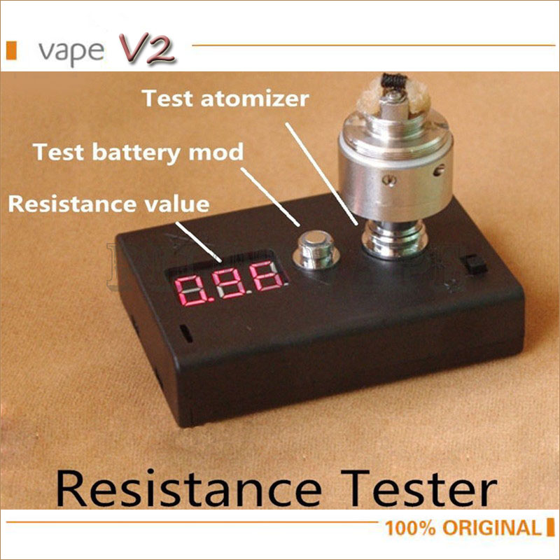 E Cig Digital Voltmeter Ohm Atomizer Electronic Cigarette Resistance Test Mod DIY Coil Wire Accessories Device