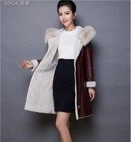 Mianyang fur coat new winter leather jacket plus velvet warm Korean hooded motorcycle jacket casual women's fur one leather jack