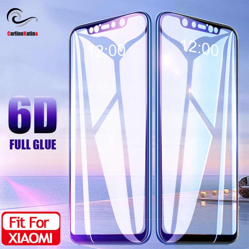 6D ガラスシャオ mi mi 8 lite mi × 3 赤 mi 注 6 プロ pocophone ため f1 画面プロテクター強化ガラスフルカバーフィルムケース