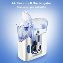 Hf H2ofloss-8 Elektryczne Waterflosser Irygator Ustnej Zębów Szczoteczka Do Zębów Dental Prysznic Maszyny Czyszczącej Niski Poziom Hałasu Projekt Strumieniem Wody
