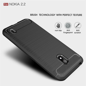 Image 2 - Silicone Case For Nokia 2.2 2 For Nokia 2.1 2V ShockProof Fitted Carbon Fiber TPU Phone Cover For Nokia 2.2 Case
