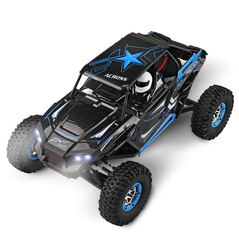 RC Vehicle Wltoys 10428-B 1/10 2.4G 2CH 4WD 30km/h Electric Rock Brushed Off-road Crawler w/ LED Lights RTR RC Climbing Car