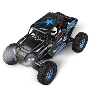 Vehículo RC Wltoys 10428-B 1/10 2,4G 2CH 4WD 30 km/h, rastreador de roca eléctrico todoterreno con luces LED RTR, coche de escalada