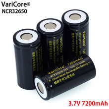 VariCore 3.7 V 32650 7200 mAh ליתיום נטענת סוללה 20A 25A רציף פריקה מרבי 32A גבוהה כוח סוללה