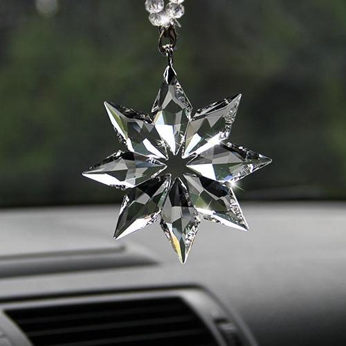 Car Styling Талғампаздығы мөлдір Кристалл Үлкен қар бүршіктері Әшекей Күн құсбелгісін тазартатын Crystals Car Sung Edition Орнасы
