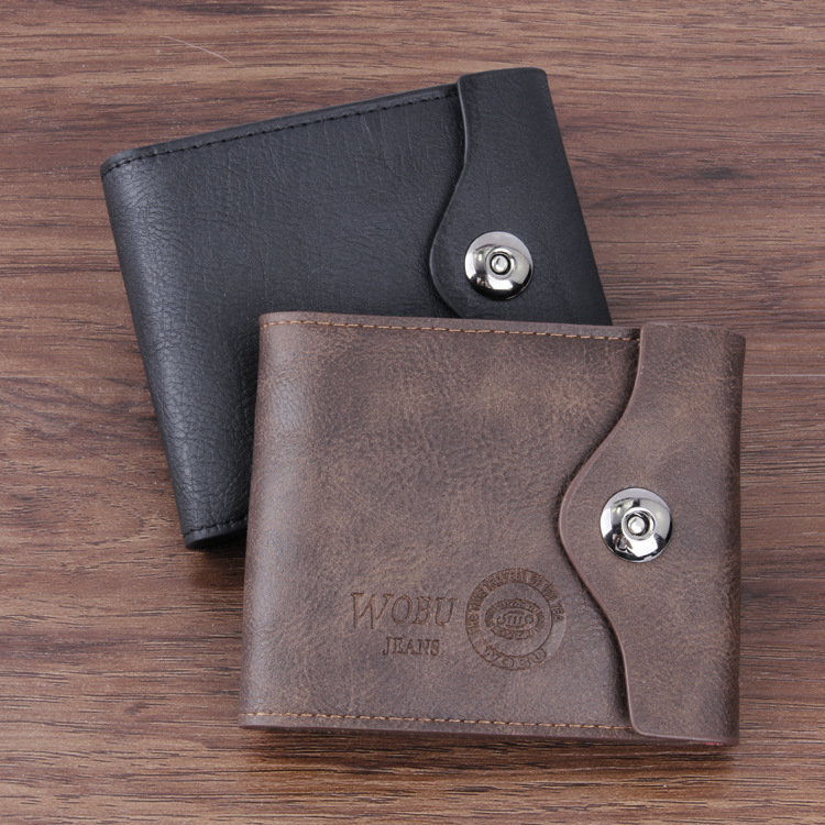 New Men's PU Leather Wallet Multifunctional Short Design Hasp Zipper Coin Purse Card Holder Fashion Casual Billfold casual weaving design card holder handbag hasp wallet for women