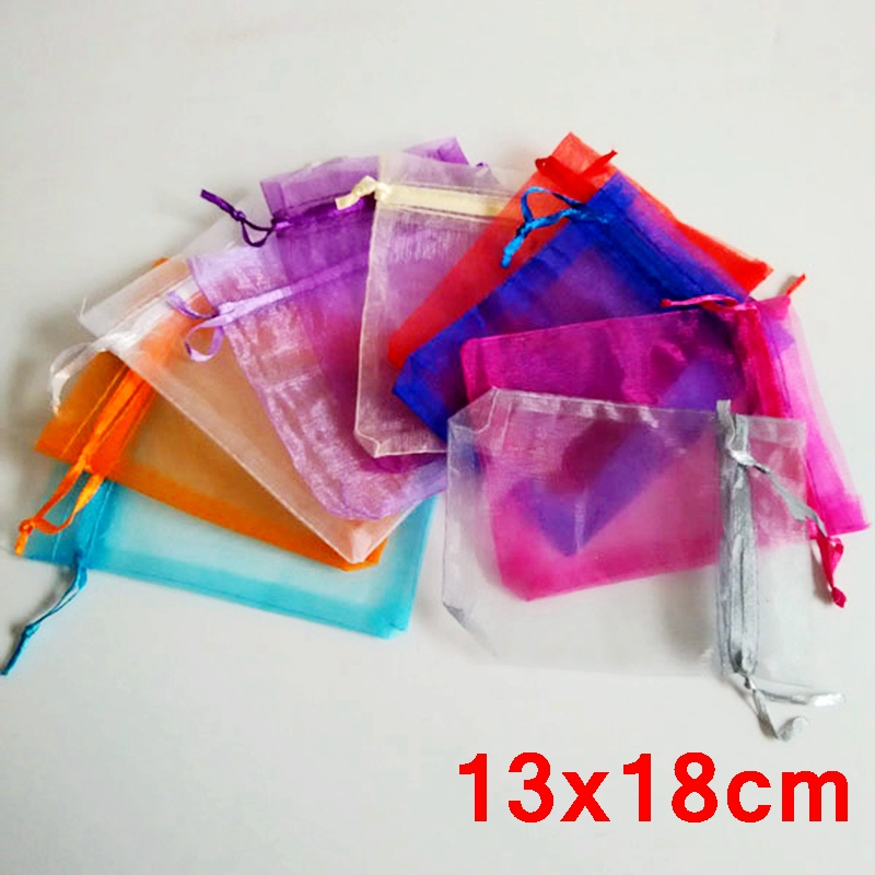 bulk 1000piece lot jewelry drawable organza bags 13x18cm wedding candy gift bags u0026 pouches free shipping