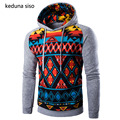 2017 Spring Casual Pullover Hoodie Men Ethnic Style Print Hoodies Male Stitching Raglan Sleeve Sweatshirt Tracksuits Masculino