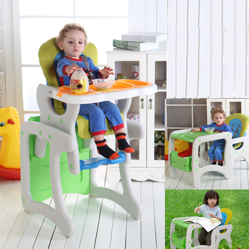 Solid Wood Booster Seat Baby High Chair Multifunction Safety Seat