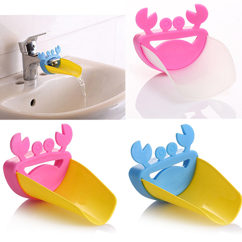 1pc Bathroom Cute Crab Shape Faucet Extender Kid Washing Hands Faucet Sink Washroom Supplies Kids Hand Wash Helper Bathroom Sink