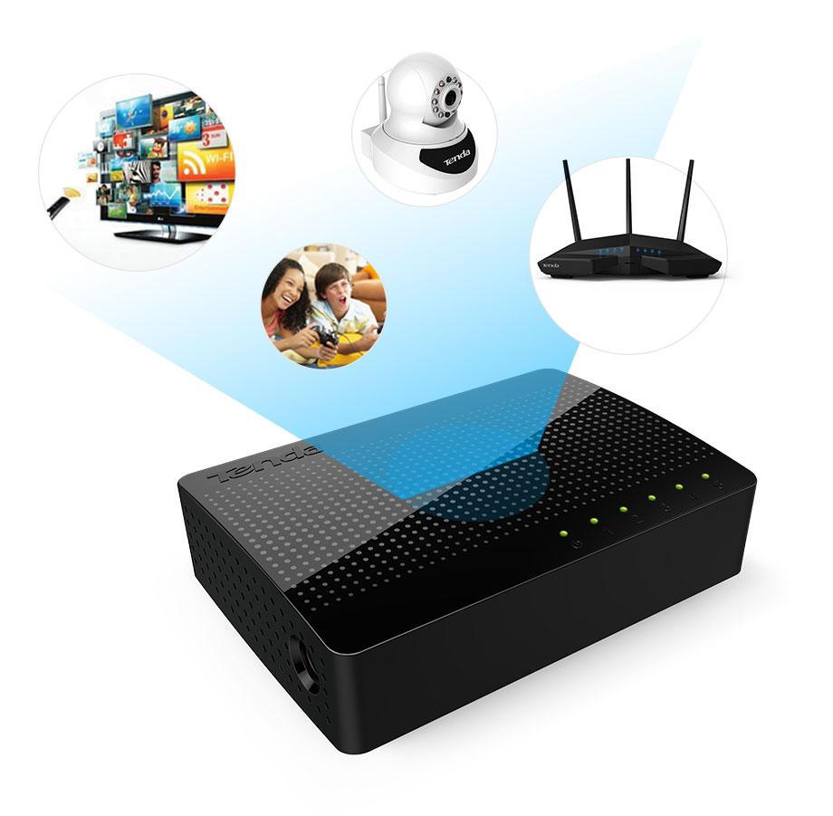 Tenda SG105 Gigabit Mini 5-Poort Desktop Switch Fast Ethernet Network Switch Lan Hub RJ45 Ethernet En Switching Hub shunt 13