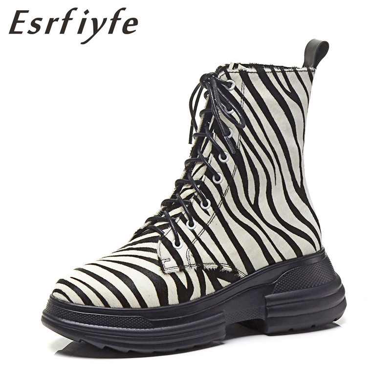 ESRFIYFE 2019 New Brand Autumn Winter Genuine Leather Ankle Boots High Quality Leopard Fashion Womens Boots Short Plush BootsESRFIYFE 2019 New Brand Autumn Winter Genuine Leather Ankle Boots High Quality Leopard Fashion Womens Boots Short Plush Boots