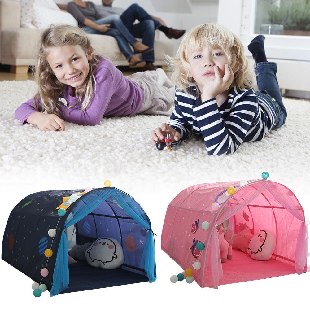 Tente de jeux pour enfants tente de lit pour enfants jeu maison bébé maison tente garçon fille coffre-fort Tunnel tente bébé intérieur activité jouet