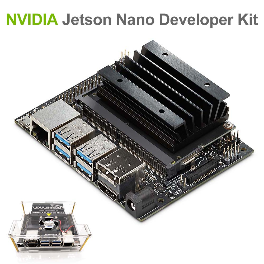 NVIDIA Jetson Nano Developer Kit for Artiticial Intelligence Deep Learning AI Computing Support PyTorch TensorFlow Jetbot