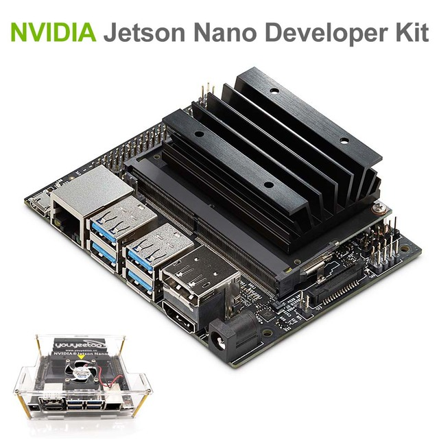 NVIDIA Jetson Nano Developer Kit for Artiticial Intelligence Deep Learning  AI Computing, Support PyTorch, TensorFlow Jetbot