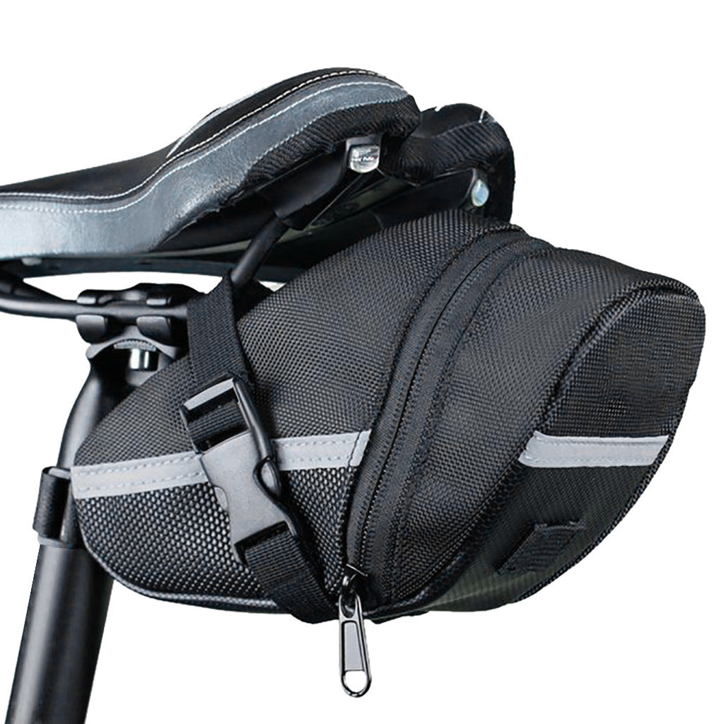 Bicycle Bike Storage Saddle Bag Seat Outdoor Cycling Tail Pouch Waterproof 1.2L