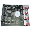 """Novo 4 x micro sd cartão de memória tf para adaptador sata ssd + raid quad 2.5 """"sata converter it-go adp02201"""