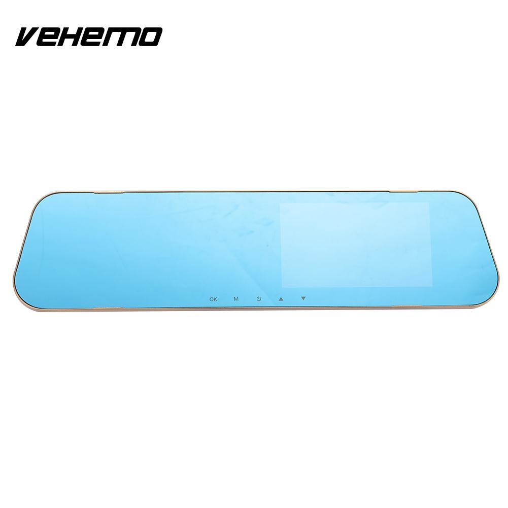 Vehemo Dash Cam Car DVR Camcorder Dual Lens 4.3 Inches Premium Video Recorder Automobile Car Camera Driving Recorder