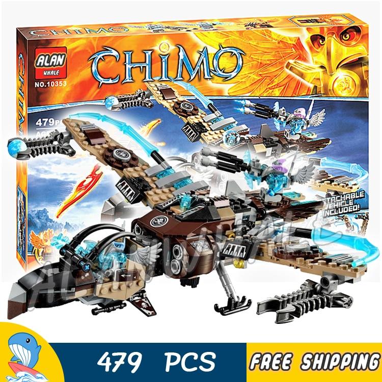 479pcs Vultrix's Sky Scavenger Battle Fighter Phoenix Flame Flyer 10353 Figure Building Blocks Toys  Compatible with LagoING|Blocks| |  - title=