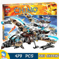 479pcs Vultrix's Sky Scavenger Battle Fighter Phoenix Flame Flyer 10353 Figure Building Blocks Toys Compatible with LagoING