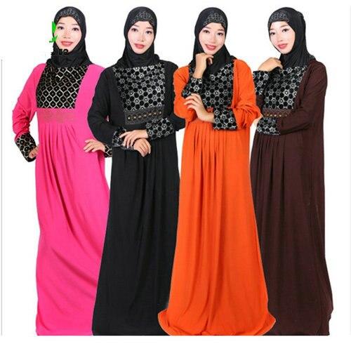 abab41ef27 Muslim Women Dress Long Sleeve Robe Musulmane Dubai Turkish Print Ladies  Clothing Women Arab Ladies Caftan Kaftan Malaysia Abaya