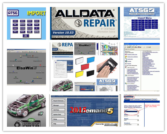 2018 Alldata and mitchell software Alldata 10.53+mitchell ondemand 2015 + vivid workshop data+ atsg+ elsa 24in1tb hdd usb3.0 alldata and mitchell software alldata auto repair software mitchell ondemand 2015 vivid workshop data atsg elsawin 49in 1tb hdd