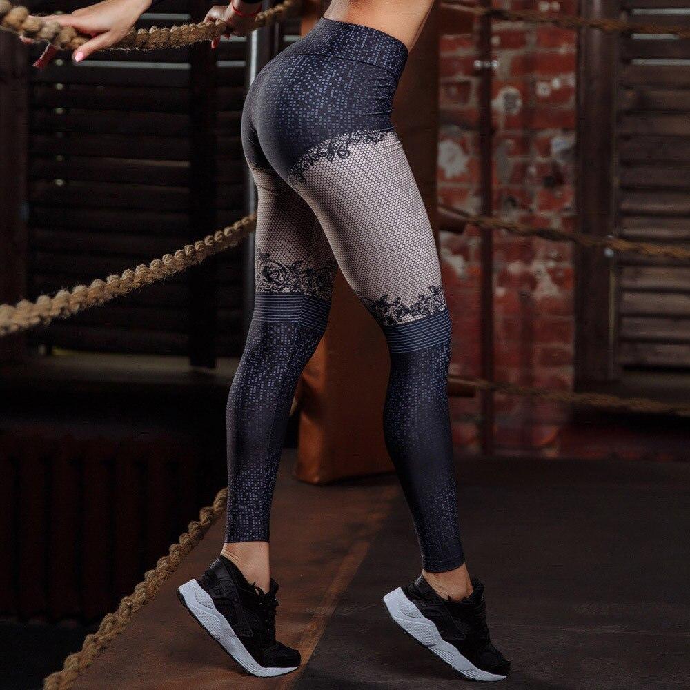 Women Yoga Leggings Gym Stretch Sports Pants Yoga Pants Sport Tights Pantalon Running Femme Sportwear Sport Fitness  C1684