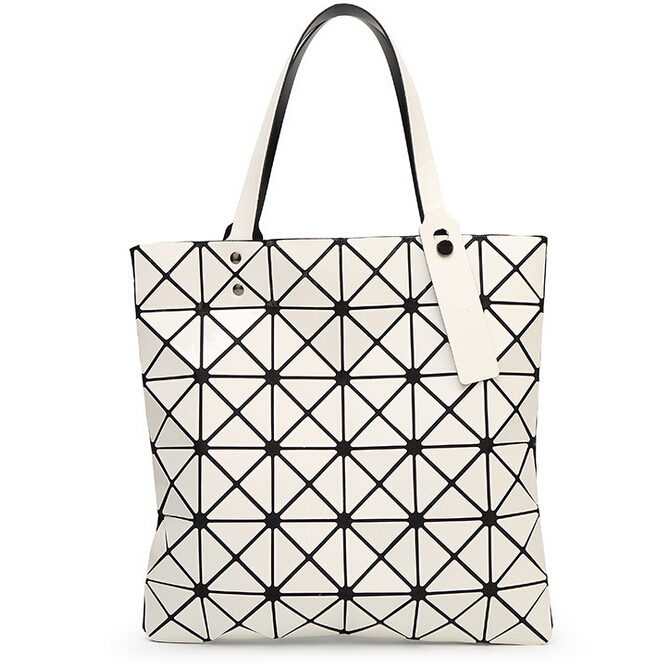 ... Fold Over Geometric Zipper bag Women Handbags Casual Tote Japan Famous Brand  Bao Bao Issey Miyake ... 0dab69200c705