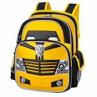 2020 nova impermeável náilon ortopédico crianças sacos de escola meninos estampas dos desenhos animados mochilas escolares infantil