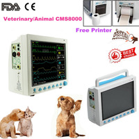 FDA Vital Signs Monitor Veterinary Patient Monitor,RESP TEMP SPO2 NIBP Pr,6 Paras,CMS8000 VET with Printer