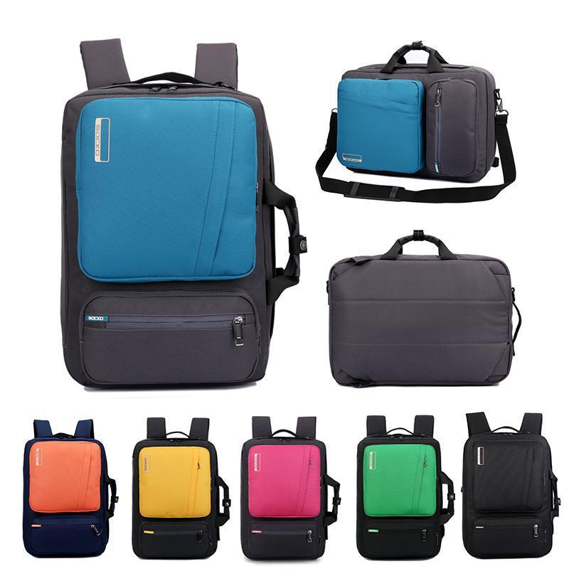 SOCKO Multifunctional Laptop Backpack 14 15 6 17 17 3 Inch Briefcase shoulder bag handbag Travel