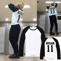 BTS Молодежный Парк Jimin Чжиминь пластин репетиционной же рукавами реглан и тонкие любители летом