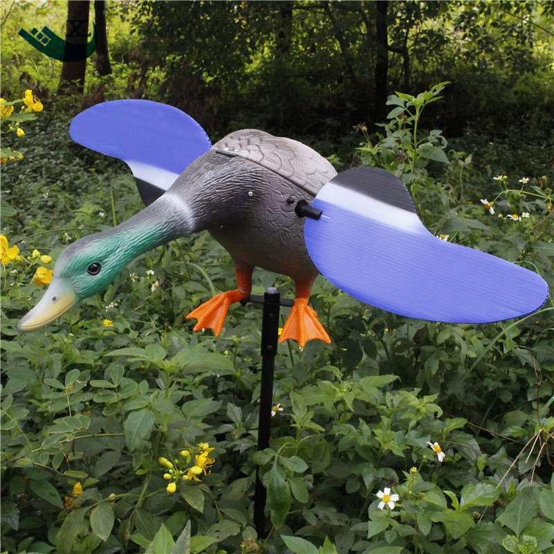 Xilei  New Arrival Wholesale Greece Outdoor Hunting Duck Decoys Plastic Greenhead Duck Hunting Decoys With Magnet Spinning Wings