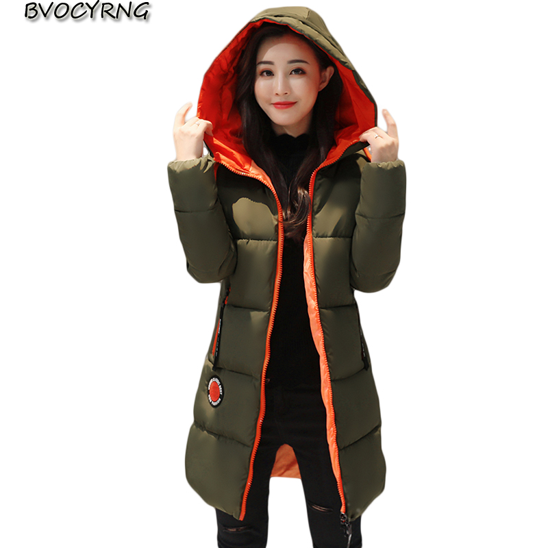 2017 New Hot Winter Jacket Female Thick Warm Cotton Coat Women Parka Wadded Long Style Plus