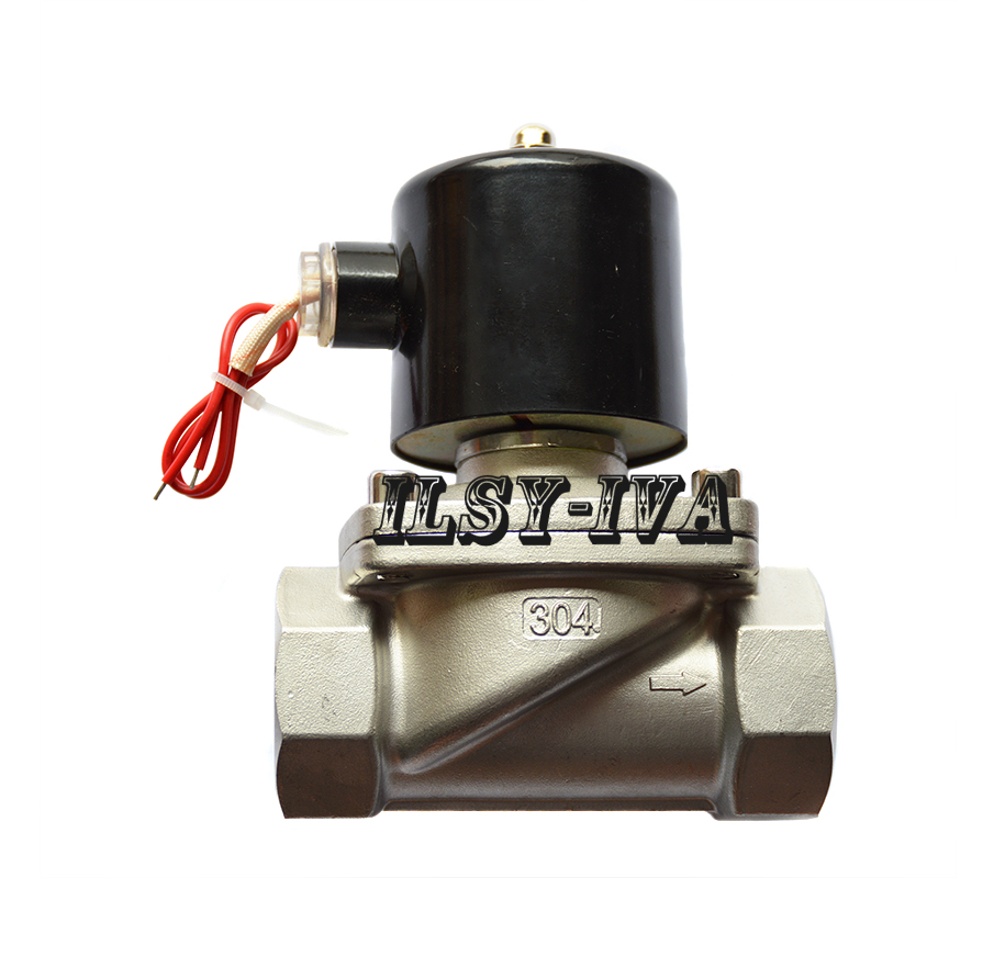 DN40 AC110V,AC220V,AC380V two way Stainless steel Normally closed solenoid valve 3 8 stainless steel water electric solenoid valve 2 way normally closed fkm 2s160 10 dc12v dc24v ac110v ac220v