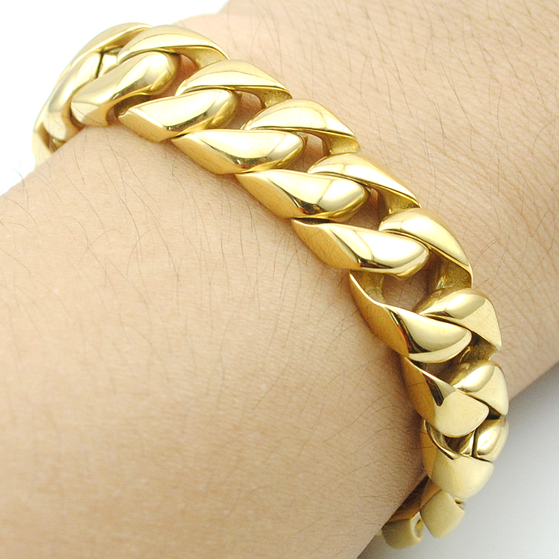 Hot Selling Gold Bracelet 22cm*12mm Men s