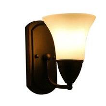Европейский стиль спальни бра фары ТВ фоне стены света Американский коридоре освещение 1856