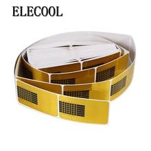 ELECOOL  100PCS Golden Nail Art Tips Sculpting Acrylic UV Gel Tips Extending Nail Tools Extension Forms Guide French DIY Kit