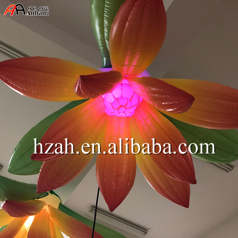 Hanging Lighting Inflatable Flower for Nightclub Decoration lighting inflatable flower for wedding decoration
