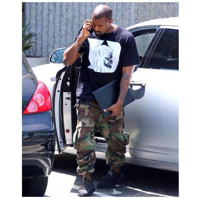 Military Camouflage Cargo Pants Men 2017 Loose Style Casual Denim Camo Men's Trousers Kanye West Cotton 30 32 34 36