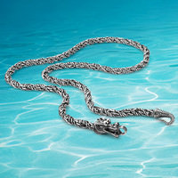 Dragon Necklace Latest Fashion 925 Sterling Silver Jewelry Men S Necklace Thai Silver Necklace Restoring Ancient