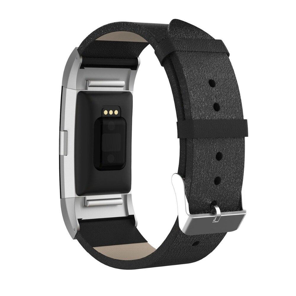 Toptan fitbit şarj IÇIN 2 bant kayışı deri saat kayışı metal kafa adaptörü ile Fitbit şarj Için 2 bilezik akıllı bileklik