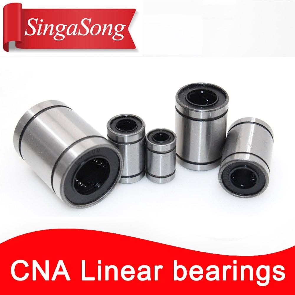 все цены на LM6UU LM8UU LM10UU LM12UU LM20UU Linear Ball Bearings 6mm 8mm 10mm 12mm 20mm Part Bush Bushing Steel for 3D Printers Parts онлайн