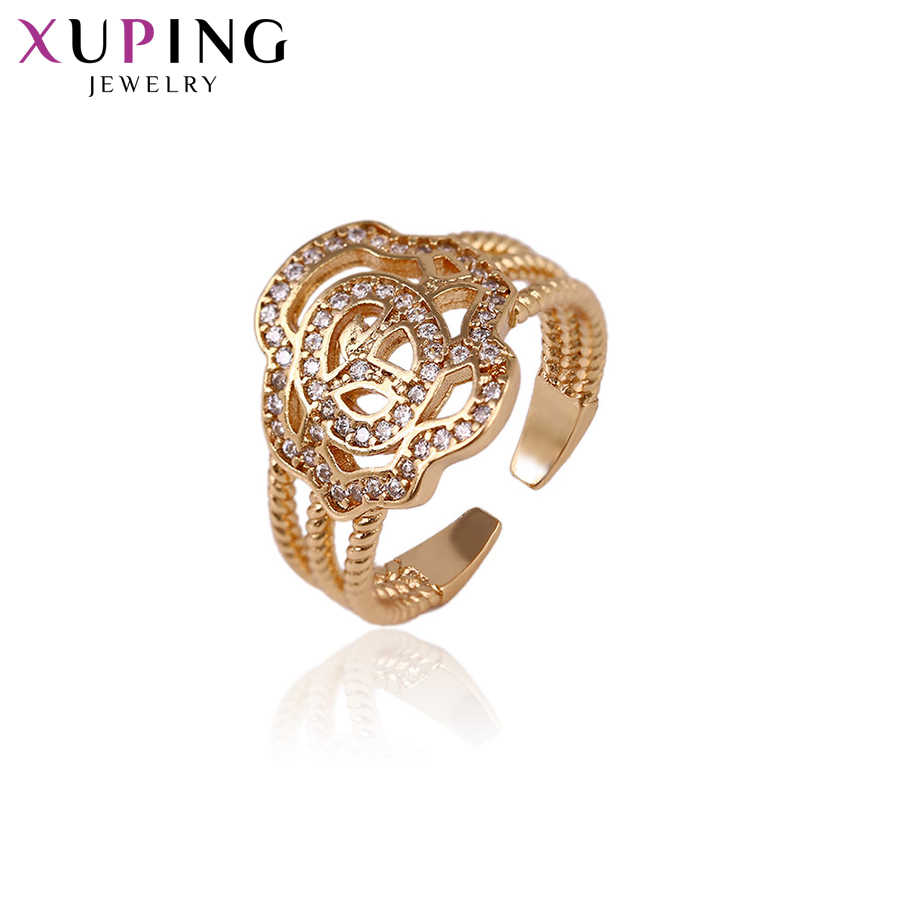 Xuping ювелирное роскошное кольцо популярный дизайн Шарм Стиль позолоченное кольцо для женщин рождественские подарки S59, 5-14287