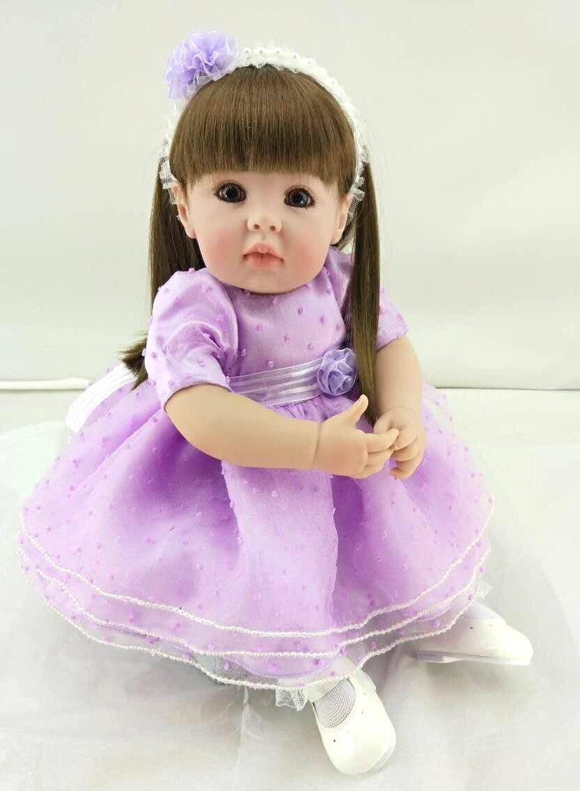 Princesse Bebe Reborn poupée 20 pouces Silicone Reborn fille bébé poupée jouets 50 cm nouveau-né réaliste vivant pour enfants menina bébés cadeau jouet