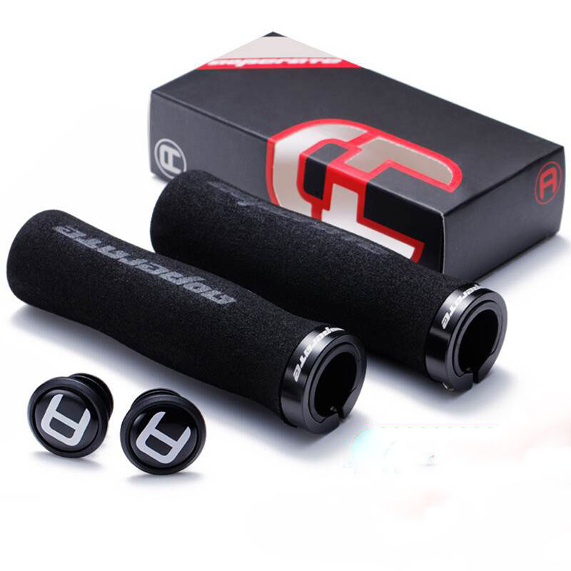1 Pair Cycling Handlebar Bike Grips For MTB Anti-Skid Sponge Bicycle Grips Mountain Bike Lock On Bicycle Handlebars End Grips