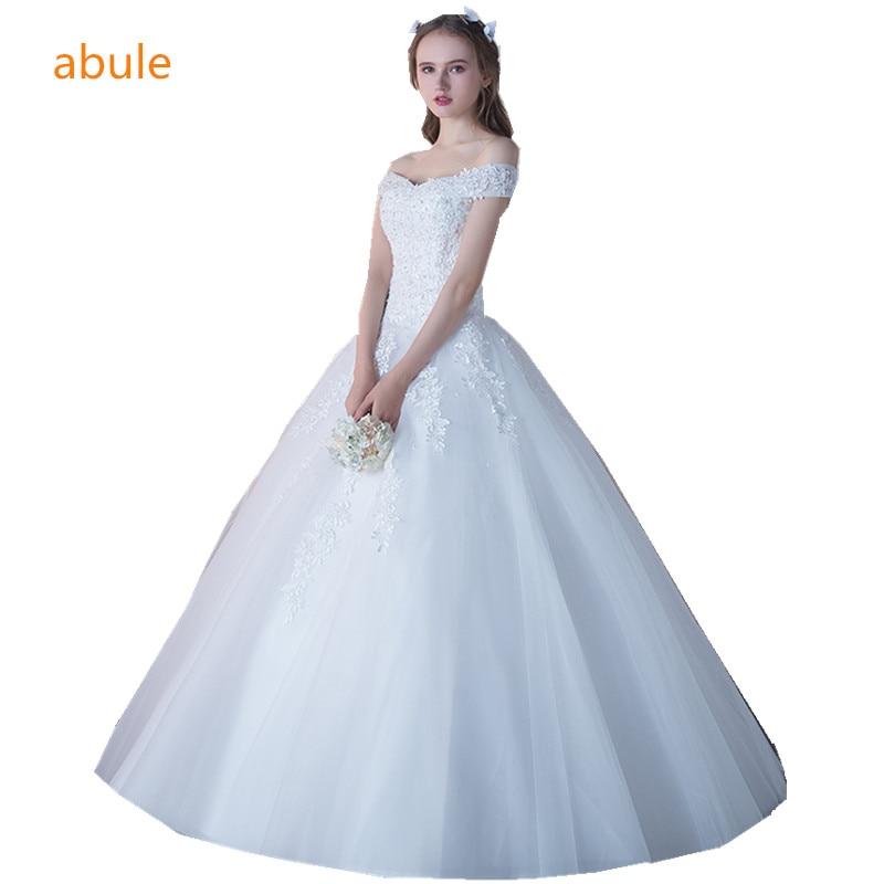 abule bröllopsklänning prinsessa Lyxig Alencon Lace Mycket god kvalitet kalkon brudklänning bröllopsklänning vestido de noiva 2018
